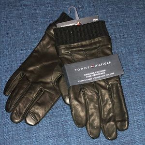 Tommy Hilfiger Men's Leather Touchscreen Gloves